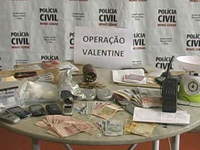 Grande quantidade de drogas foi apreendida na Operação Valentine (foto: Reprodução / TV Sul)
