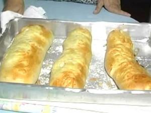 Pão recheado é o prato da vez no quadro 'Culinária'
