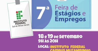 7ª Edição da Feira de Estágios e Empregos do IF Sul de Minas acontece nesta quinta