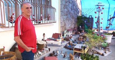 Morador de Poços de Caldas se destaca na construção de presépios em formato de maquetes