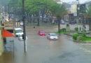 Chuva causa alagamentos em Guaxupé