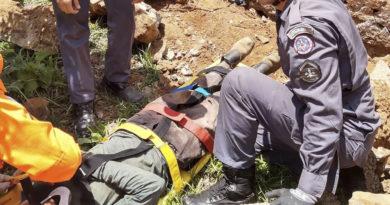 Queda de um muro de arrimo cai e deixa homem de 52 anos ferido