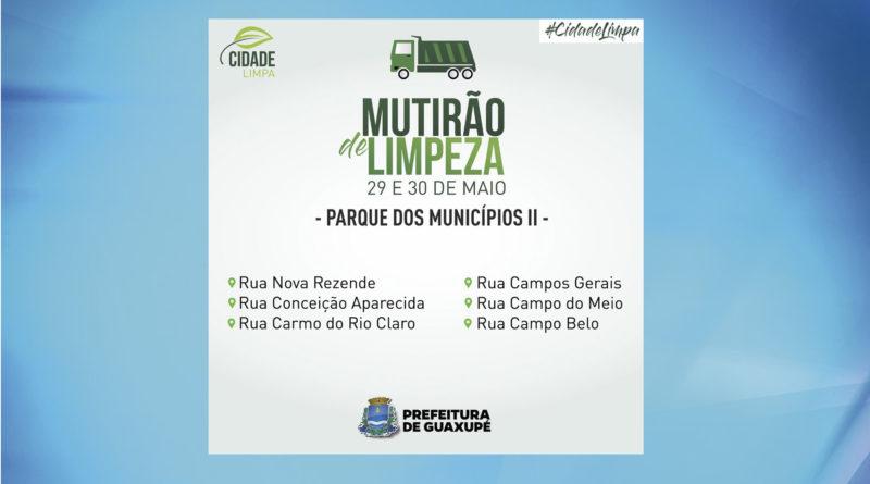 Prefeitura ira realizar mutirão de limpeza no Parque dos Municípios II.