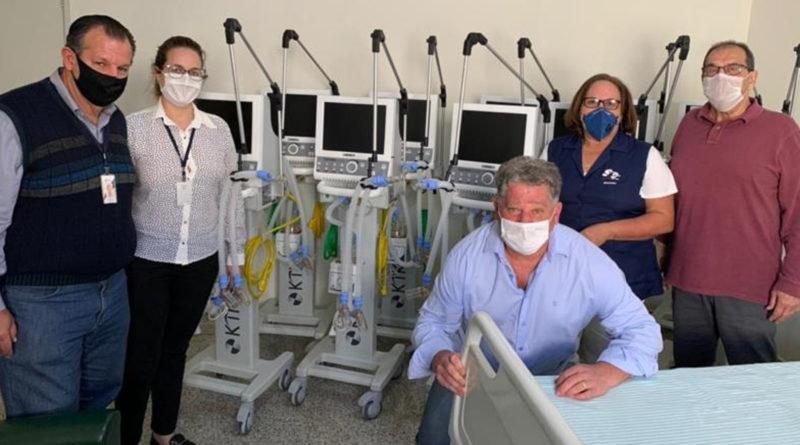 Prefeitura e Santa Casa recebem 10 novos respiradores para a UTI destinada aos pacientes da Covid-19