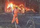 Bombeiros combatem incêndio na destilaria de Guaranésia novamente