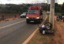 Bombeiros resgatam motociclista ferido no Polo Industrial em Guaxupé