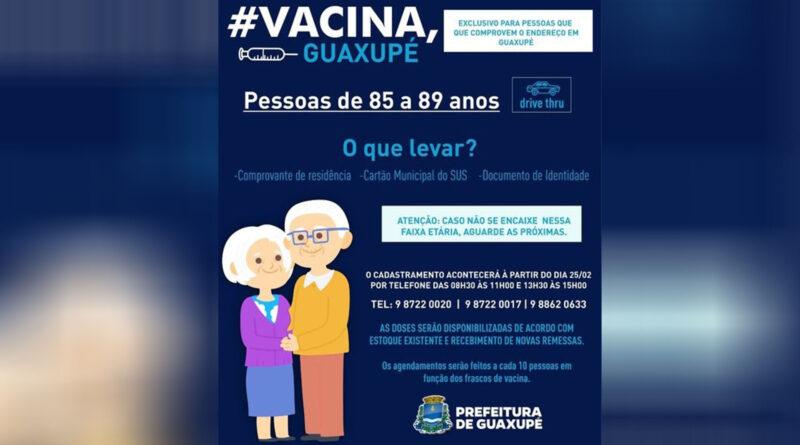 Agendamento de vacinação contra a Covid-19 para idosos com mais de 85 anos já pode ser feito