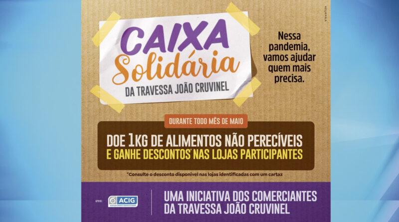 """Comerciantes de Guaxupé iniciam a campanha """"Caixa Solidária"""""""