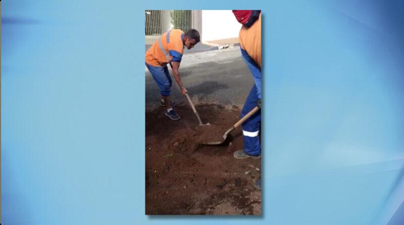 Prefeitura e Macchione realizam operação limpa bueiros