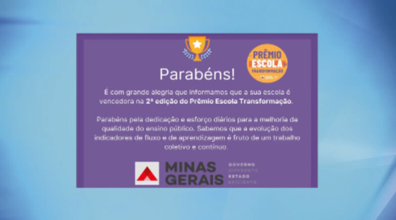 E. E. Major Luiz Zerbini vence 2ª edição do Prêmio Escola Transformação e recebe R$ 100 mil reais